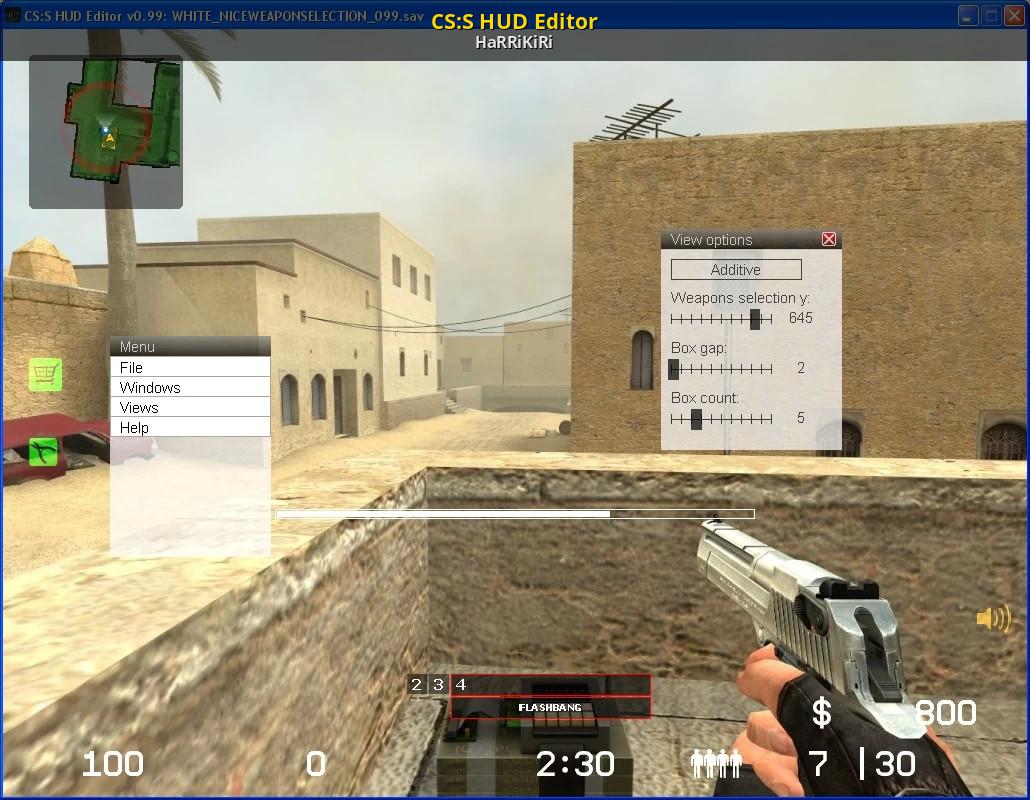 CS:S HUD Editor [Counter-Strike: Source] [Modding Tools]