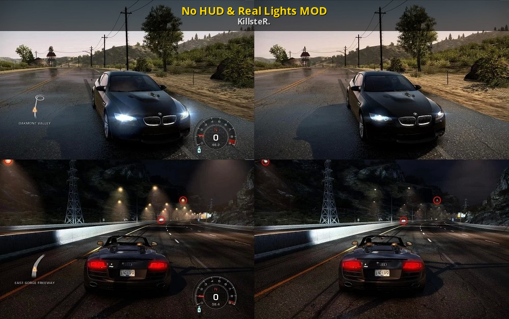 No Hud Real Lights Mod Need For Speed Hot Pursuit 2 Modding