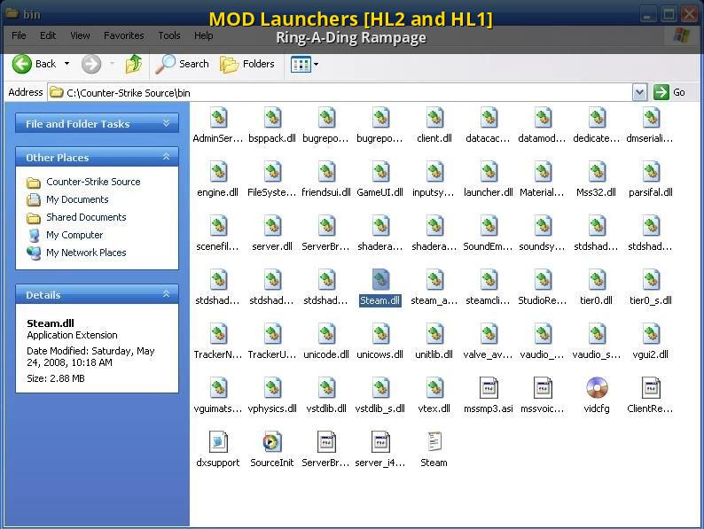 MOD Launchers [HL2 and HL1] [Half-Life 2] [Modding Tools]