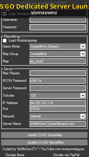 CS:GO Dedicated Server Launcher v0 998 2014 [Counter-Strike: Global