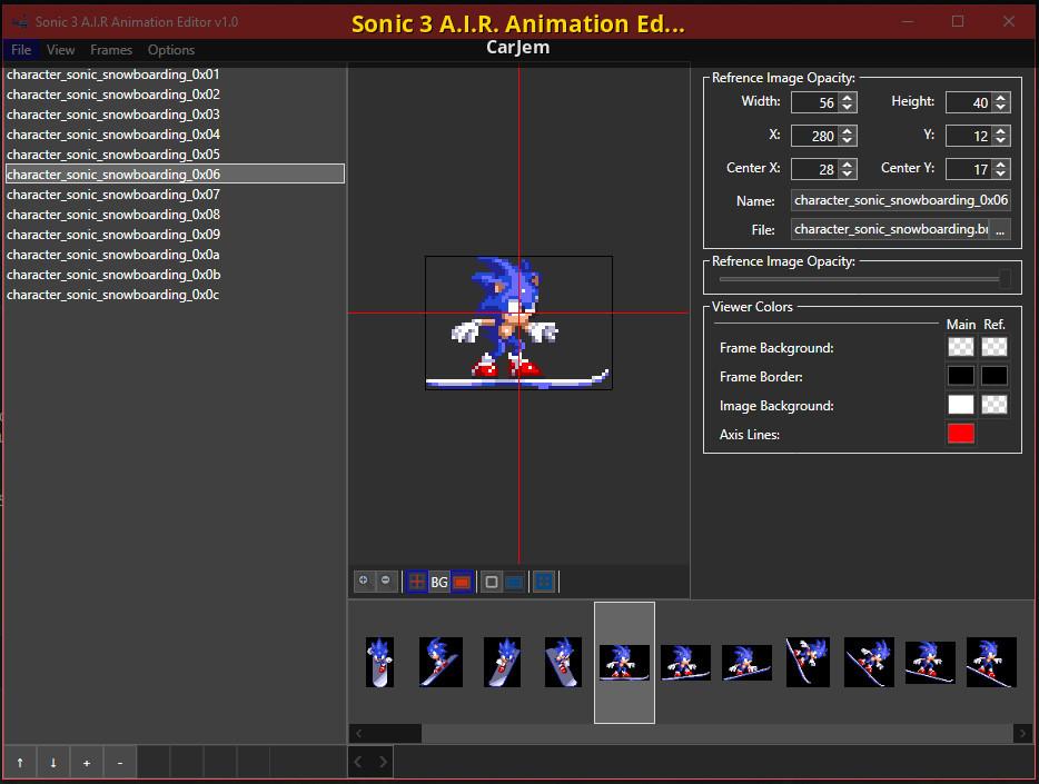 Sonic 3 A I R Animation Editor Sonic 3 A I R Modding Tools