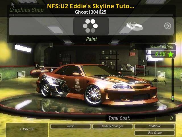 Nfs U2 Eddie S Skyline Tutorial Need For Speed Underground 2 Tutorials