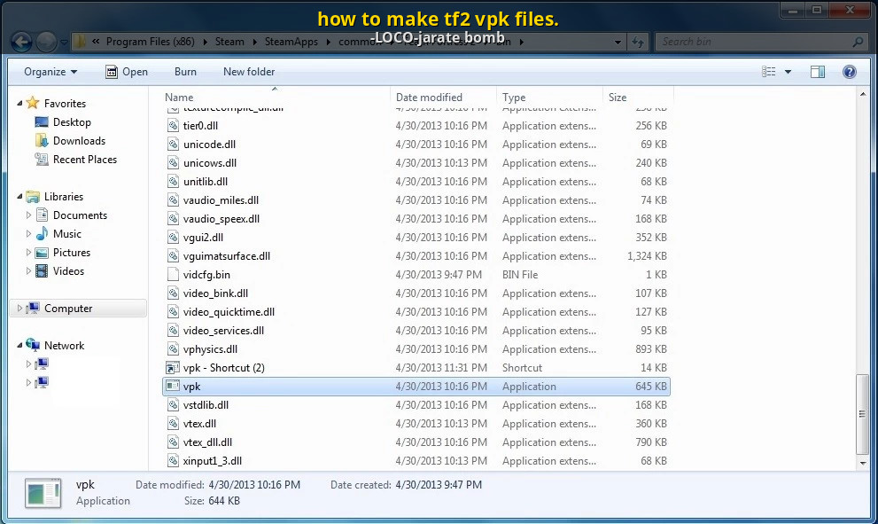 How To Make Tf2 Vpk Files Team Fortress 2 Tutorials