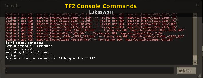 TF2 Console Commands | Team Fortress 2 Tutorials on