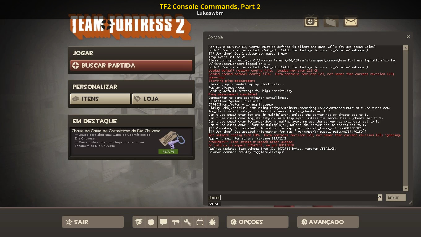 TF2 Console Commands, Part 2 [Team Fortress 2] [Tutorials]