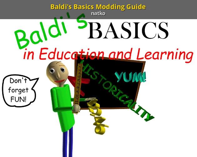 Baldi S Basics Modding Guide Baldi S Basics Tutorials
