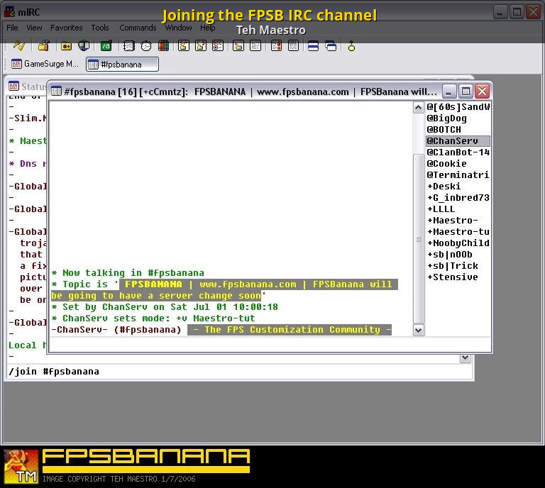 Joining the FPSB IRC channel [GameBanana] [Tutorials]