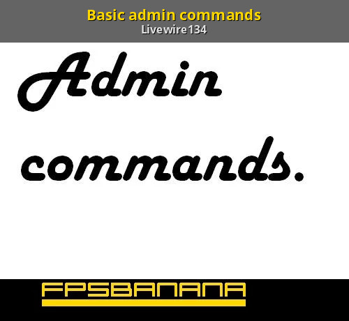 Admin commands