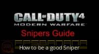 How to be a good Sniper [Call of Duty 4: Modern Warfare] [Tutorials]