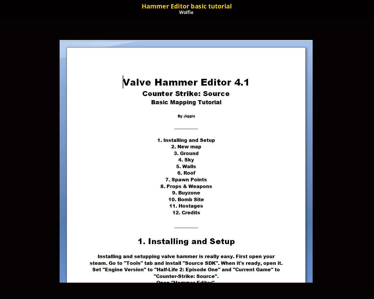 Hammer Editor basic tutorial [Counter-Strike: Source] [Tutorials]