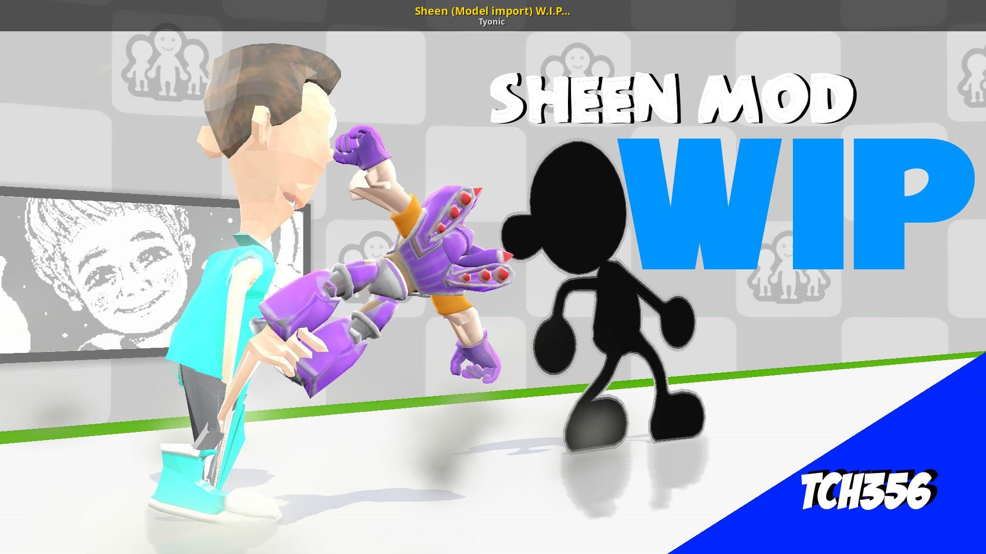 Sheen (Model import) W I P (COMPLETE) [Super Smash Bros