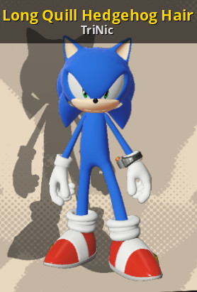 Long Quill Hedgehog Hair Sonic Forces Works In Progress