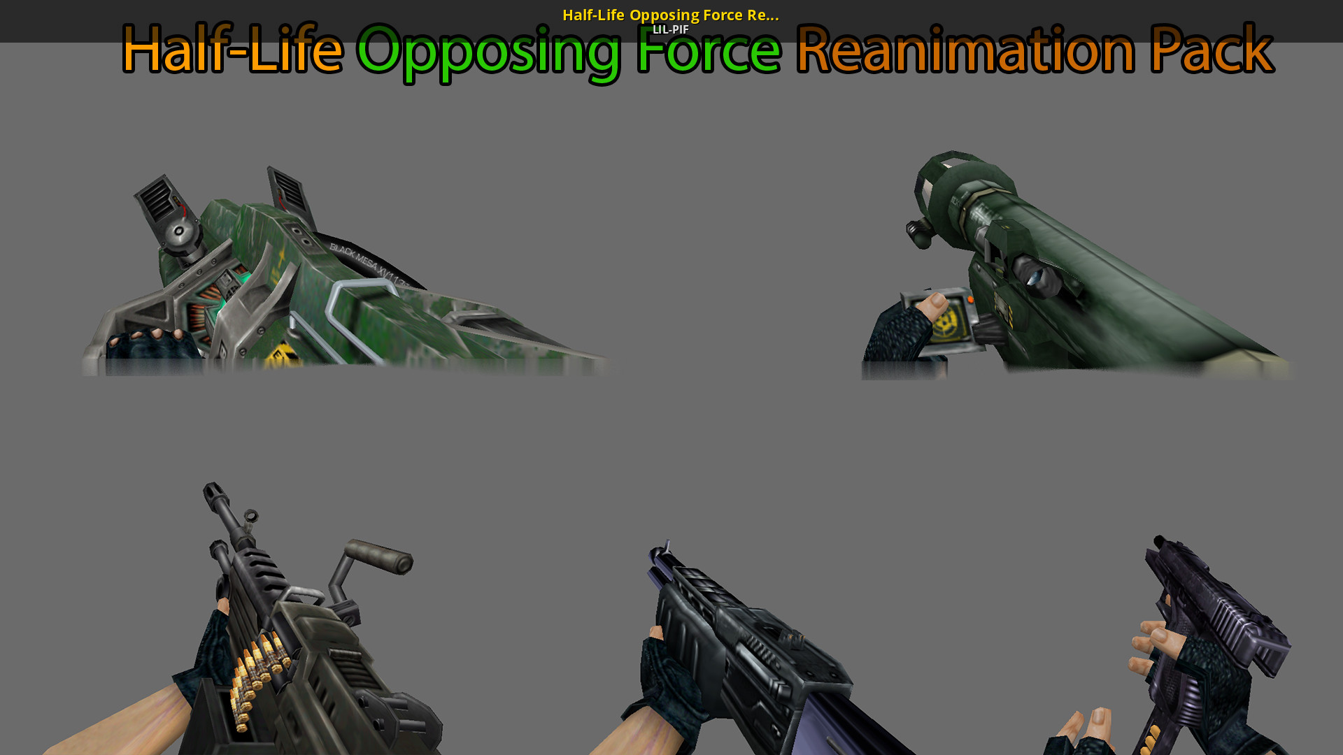 Half Life Opposing Force Reanimation Pack Ld Half Life Opposing