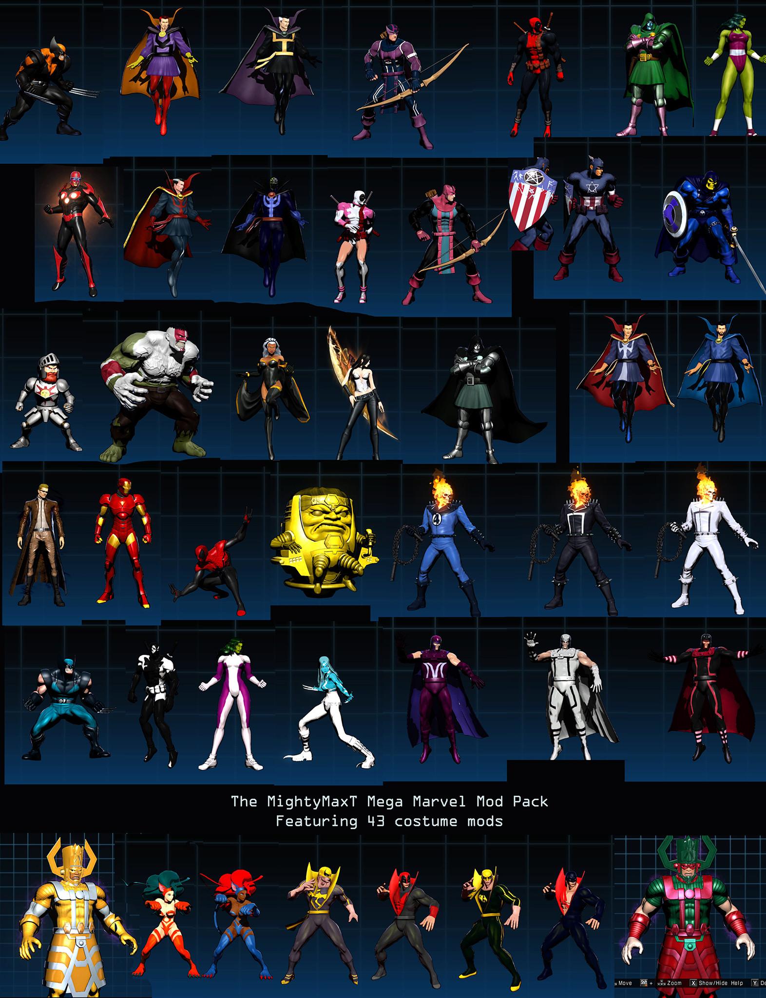 The 43 Mod Pack Ultimate Marvel Vs Capcom 3 Mods